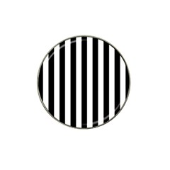 Black And White Stripes Hat Clip Ball Marker (10 Pack)