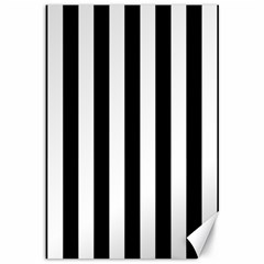 Black And White Stripes Canvas 12  X 18   by designworld65