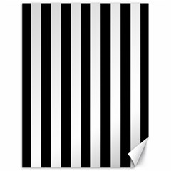 Black And White Stripes Canvas 18  X 24   by designworld65