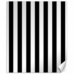 Black And White Stripes Canvas 20  X 24   by designworld65