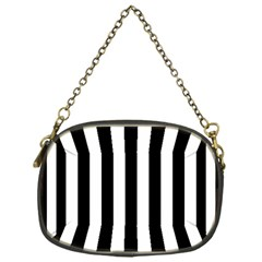 Black And White Stripes Chain Purses (one Side)  by designworld65