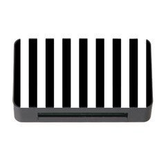 Black And White Stripes Memory Card Reader With Cf by designworld65