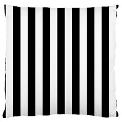 Black And White Stripes Large Cushion Case (two Sides) by designworld65