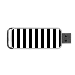 Black And White Stripes Portable Usb Flash (two Sides) by designworld65