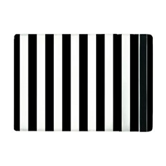 Black And White Stripes Apple Ipad Mini Flip Case by designworld65
