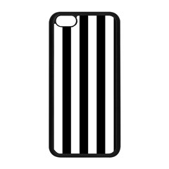 Black And White Stripes Apple Iphone 5c Seamless Case (black) by designworld65