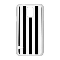 Black And White Stripes Samsung Galaxy S5 Case (white) by designworld65