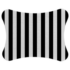 Black And White Stripes Jigsaw Puzzle Photo Stand (bow) by designworld65