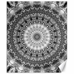 Feeling Softly Black White Mandala Canvas 20  X 24   by designworld65