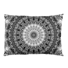 Feeling Softly Black White Mandala Pillow Case by designworld65