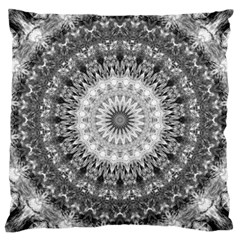 Feeling Softly Black White Mandala Large Cushion Case (two Sides) by designworld65