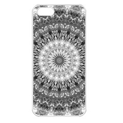Feeling Softly Black White Mandala Apple Iphone 5 Seamless Case (white) by designworld65