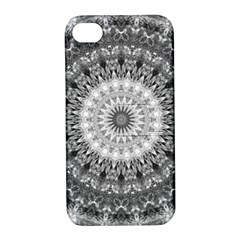 Feeling Softly Black White Mandala Apple Iphone 4/4s Hardshell Case With Stand by designworld65