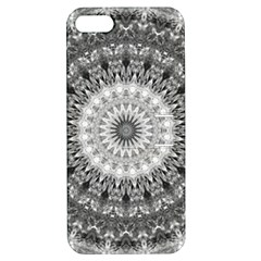 Feeling Softly Black White Mandala Apple Iphone 5 Hardshell Case With Stand by designworld65