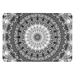 Feeling Softly Black White Mandala Samsung Galaxy Tab 8 9  P7300 Flip Case by designworld65
