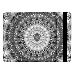 Feeling Softly Black White Mandala Samsung Galaxy Tab Pro 12 2  Flip Case by designworld65