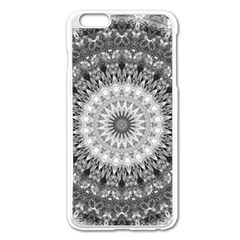 Feeling Softly Black White Mandala Apple Iphone 6 Plus/6s Plus Enamel White Case by designworld65