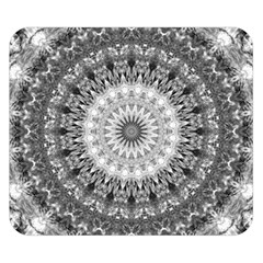 Feeling Softly Black White Mandala Double Sided Flano Blanket (small)