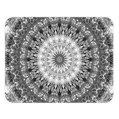 Feeling Softly Black White Mandala Double Sided Flano Blanket (large)