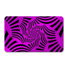 Black Spral Stripes Pink Magnet (rectangular)
