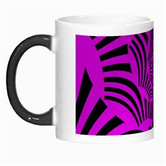 Black Spral Stripes Pink Morph Mugs