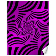 Black Spral Stripes Pink Canvas 12  X 16   by designworld65