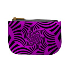 Black Spral Stripes Pink Mini Coin Purses by designworld65