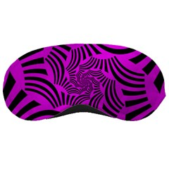 Black Spral Stripes Pink Sleeping Masks by designworld65