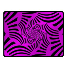 Black Spral Stripes Pink Fleece Blanket (small) by designworld65