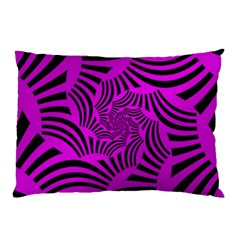 Black Spral Stripes Pink Pillow Case (two Sides)