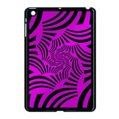 Black Spral Stripes Pink Apple Ipad Mini Case (black) by designworld65