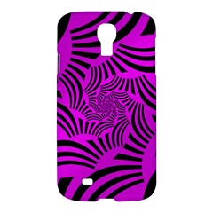 Black Spral Stripes Pink Samsung Galaxy S4 I9500/i9505 Hardshell Case by designworld65