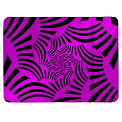 Black Spral Stripes Pink Samsung Galaxy Tab 7  P1000 Flip Case by designworld65