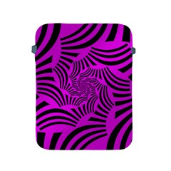 Black Spral Stripes Pink Apple Ipad 2/3/4 Protective Soft Cases by designworld65