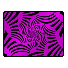 Black Spral Stripes Pink Double Sided Fleece Blanket (small)  by designworld65