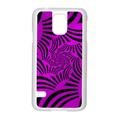 Black Spral Stripes Pink Samsung Galaxy S5 Case (white) by designworld65