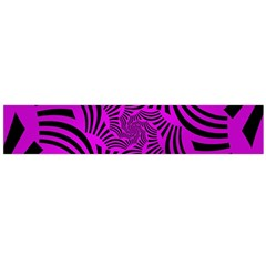 Black Spral Stripes Pink Flano Scarf (large) by designworld65
