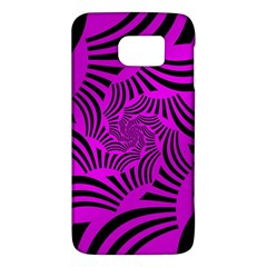 Black Spral Stripes Pink Galaxy S6 by designworld65