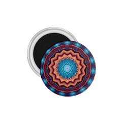 Blue Feather Mandala 1 75  Magnets