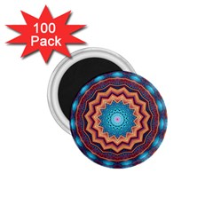 Blue Feather Mandala 1.75  Magnets (100 pack)