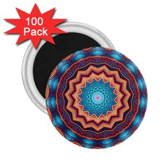 Blue Feather Mandala 2.25  Magnets (100 pack)