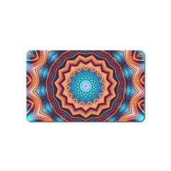 Blue Feather Mandala Magnet (Name Card)
