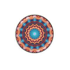 Blue Feather Mandala Hat Clip Ball Marker (4 pack)