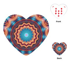 Blue Feather Mandala Playing Cards (Heart)