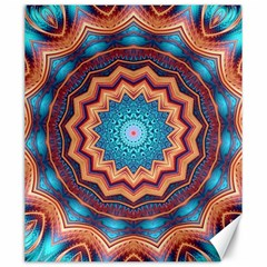 Blue Feather Mandala Canvas 20  X 24   by designworld65