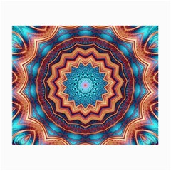 Blue Feather Mandala Small Glasses Cloth (2 Side)