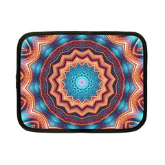 Blue Feather Mandala Netbook Case (Small)
