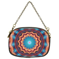 Blue Feather Mandala Chain Purses (Two Sides)