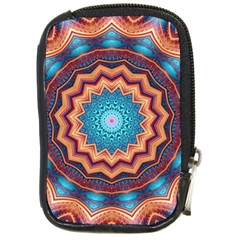 Blue Feather Mandala Compact Camera Cases