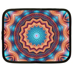 Blue Feather Mandala Netbook Case (xl)